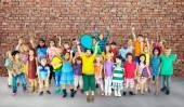 Group of Multiethnic children — Stock Photo