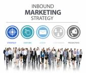 Business people and Inbound Marketing Strategy — Stock Photo