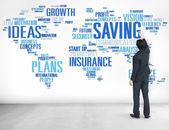 Saving Finance and World Economy Concept — Stock Photo
