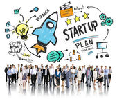 Business people and Start Up Concept — Stock Photo