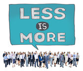 Business people and Less is More Concept — Stock Photo