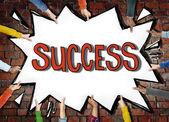 Hands holding Success Achievemnt — Stock Photo