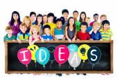 Концепция идей с группой детей — Стоковое фото