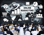 People at seminar about Online Marketing — Stock Photo