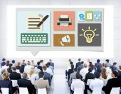 Business people at the seminar — Stock Photo