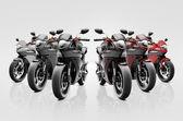 Motosiklet binici çağdaş kümesi — Stok fotoğraf