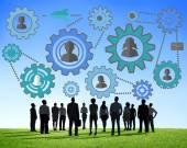 Wspólnoty, zespół biznes, partnerstwo i współpraca — Zdjęcie stockowe