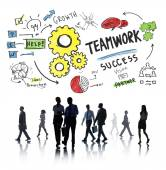 Teamwork, Collaboration in Business, Travel — Stock Photo