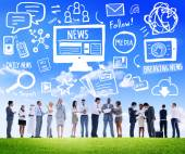 Business people and News Breaking Concept — Stock Photo