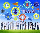 Reunión de personas de negocios, equipo corporativo concepto — Foto de Stock