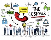 People and The Customer Service Concept — Stock Photo