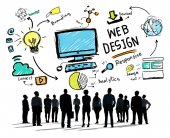 Business people and Webdesign Concept — Stock Photo