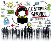 People and Customer Service Concept — Stock Photo