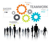 Teamwork, Groupof  Gears, Partnership and Cooperation — Stock Photo