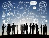 Obchodní lidé a recyklovat koncepce — Stock fotografie