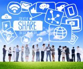 Diverse people and Share Concept — Stock Photo