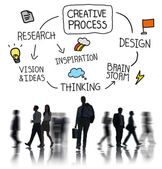 People and Creative Process Concept — Stock Photo