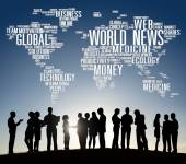 People and World News Concept — Stock Photo