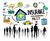 Business People and Insurance Policy Working Concept — Stock Photo