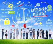 Diverse people and Employee Rights — Stock Photo