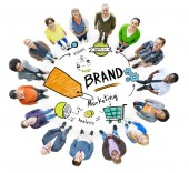 Diverse People and Brand Concept — Stock Photo