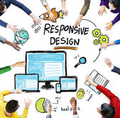 People and Responsive Design Concept — Stock Photo
