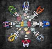 Divers peuples et Concept de soutien d'équipe — Photo