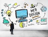 Content and Webdesign Concept — Stock Photo