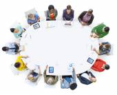 People Working in a Conference and Copy Space — Stock Photo