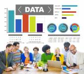 People and Data Analytics Concept — Stock Photo