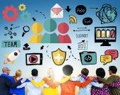Osób i koncepcji współpracy — Zdjęcie stockowe