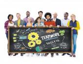 Ludzie pracy zespołowej koncepcji edukacji — Zdjęcie stockowe