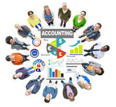 People and Accounting Concept — Stock Photo