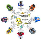 Group of people and Teamwork Concept — Stock Photo