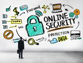 Online Security Protection and Internet Safety Concept — Stock Photo