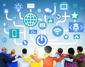 People and Social Networking Concept — Stock Photo