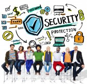 People and Security Protection Concept — Stock Photo