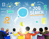 Diverse People and Job Search Concept — Stock fotografie