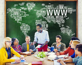 Social Media Internet Connection Global Communications — Stock Photo