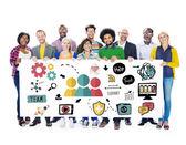 Concetto di persone e lavoro di squadra — Foto Stock