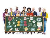 Koncepcja ludzie i pracy zespołowej — Zdjęcie stockowe
