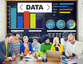 People and Data Analytics Charts Concept — Stock Photo