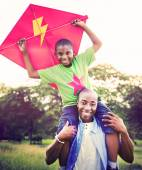 Happy African family having fun — Stock Photo
