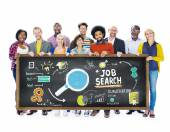 Group of People Searching Job — Stock Photo