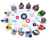 Team Teamwork Cog Functionality Technology Business Concept — Stock Photo