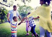 Happy African Family during Holiday Vacation — Stock Photo