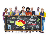 Customer Loyalty Service Support Concept — Stock Photo