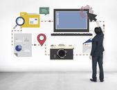 Teknik och Media koncept — Stockfoto