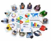Divers peuples et Concept de comptabilité finances — Photo
