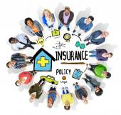People around the Insurance Policy Concept — Stock Photo